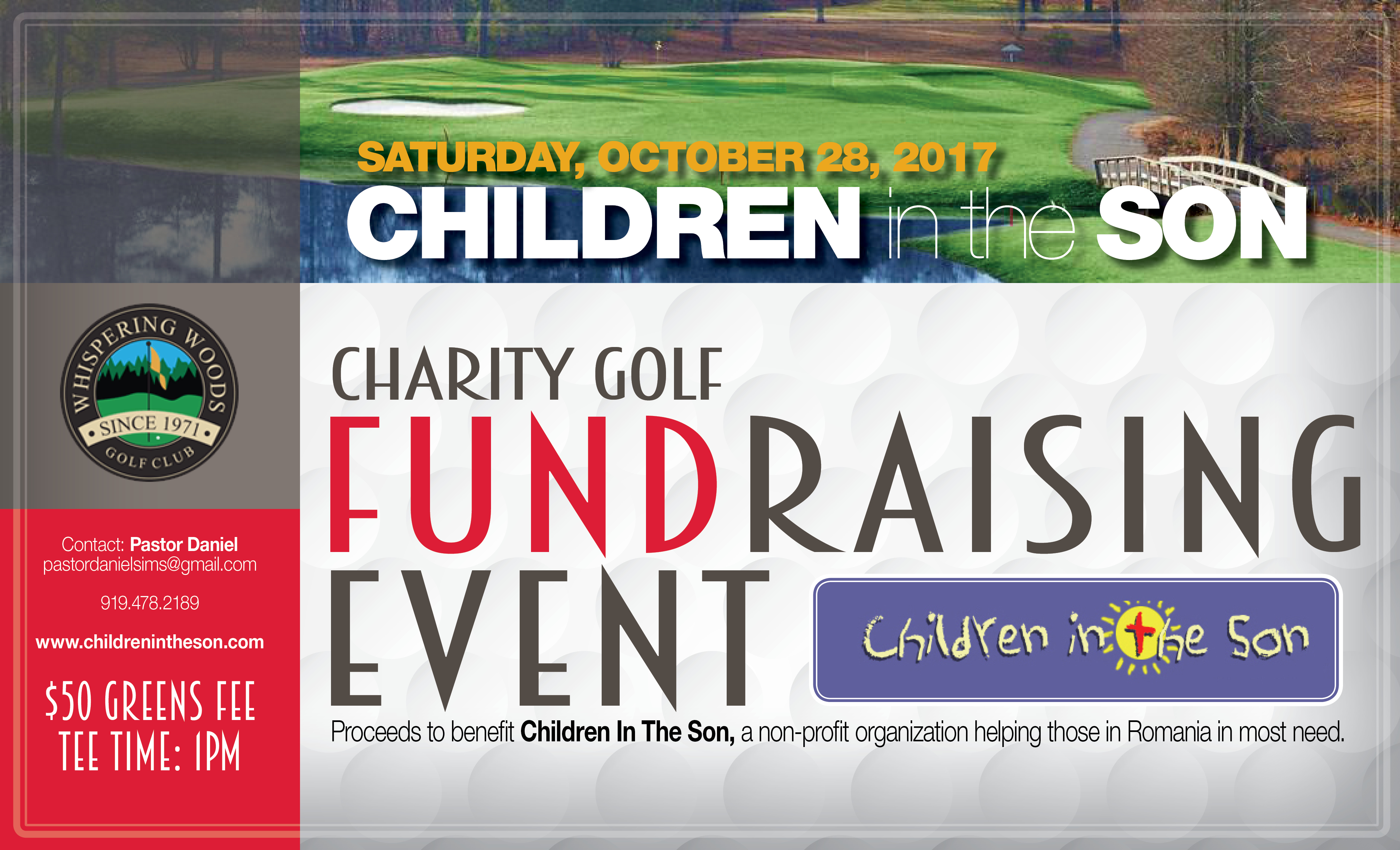 Children In The Son Charity Golf Event
