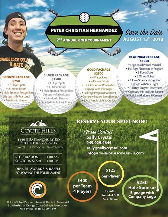 Peter Christian Hernandez 2nd Annual Golf Tournament