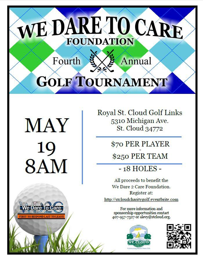 We Dare to Care Foundation 4th Annual Charity Golf Tournament presented by City of St. Cloud Public Services