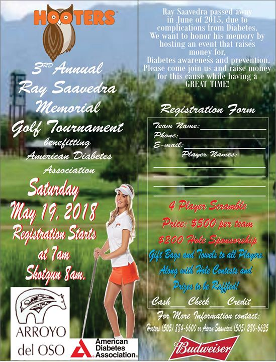 3rd Annual Ray Saavedra Memorial Golf Tournament