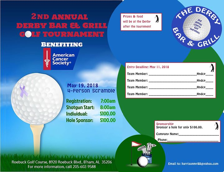 2nd Annual Derby Bar & Grill Golf Tournament