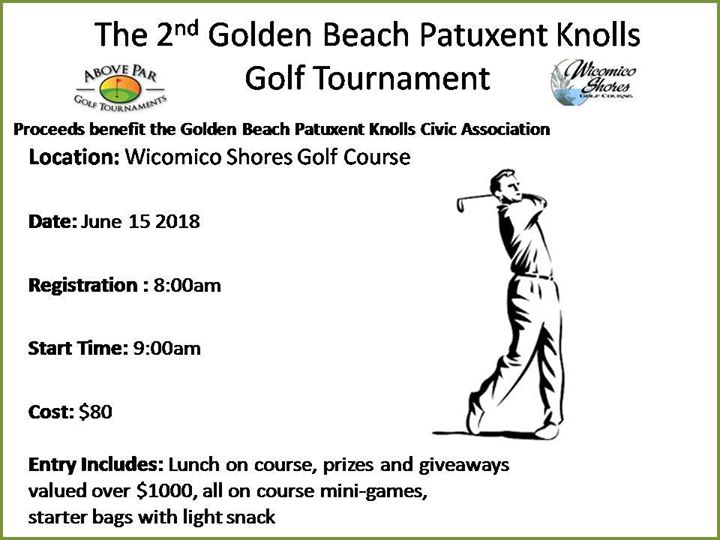 2nd Annual Golden Beach Patuxent Knolls Golf Tournament
