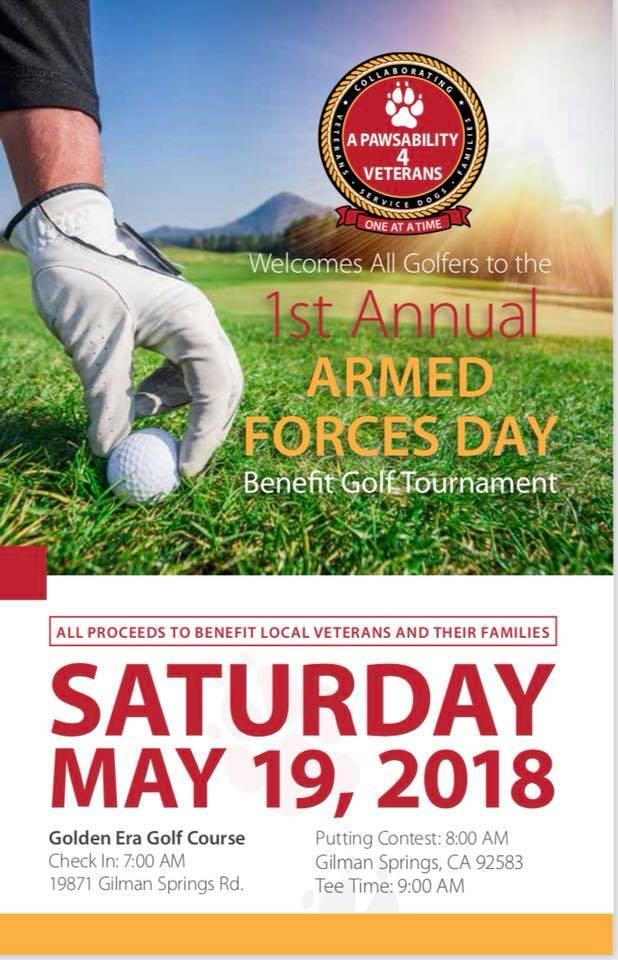 1st Annual Armed Forces Day Benefit Golf Tournament