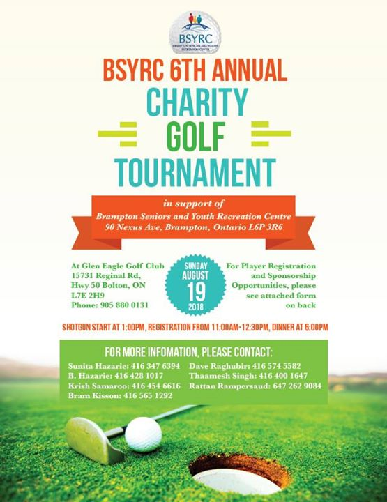 BSYRC 6TH Annual Charity Golf Tournament   GolfTourney com
