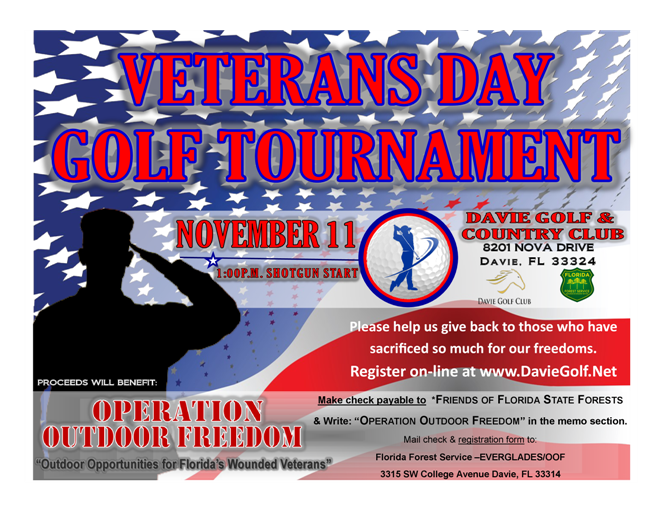 Veterans Day Golf Tournament benefiting Operation Outdoor Freedom