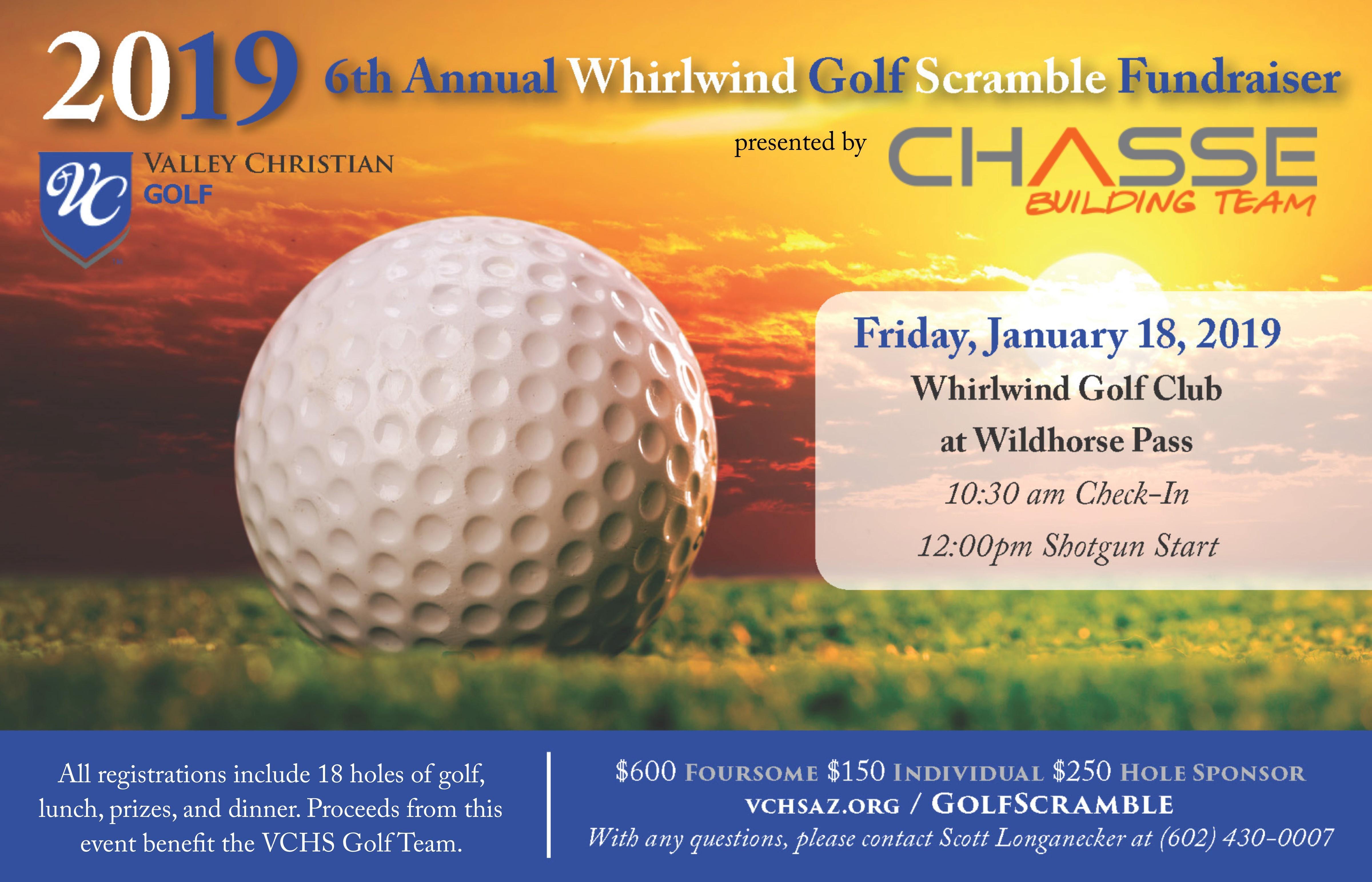 2019 Whirlwind Golf Scramble, presented by Chasse Building Team