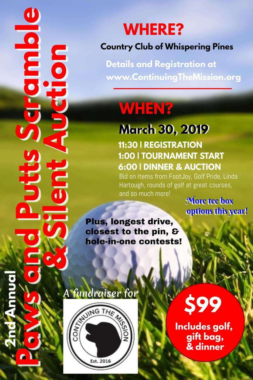 2nd Annual Paws and Putts Scramble & Silent Auction